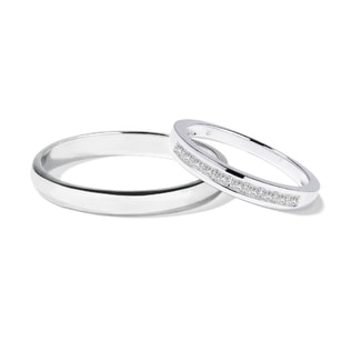 DIAMOND WEDDING RINGS IN 14KT WHITE GOLD - DIAMOND WEDDING RINGS - WEDDING RINGS
