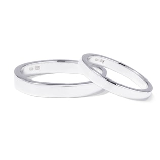 Wedding rings in white gold