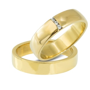 DIAMOND WEDDING RINGS IN 14KT GOLD - YELLOW GOLD WEDDING RINGS - WEDDING RINGS
