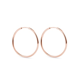 Hoop earrings in rose gold