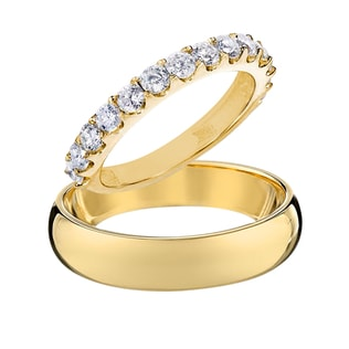 WEDDING RINGS IN 14KT GOLD - DIAMOND WEDDING RINGS - WEDDING RINGS