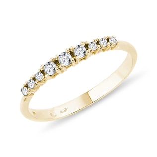 RING WITH DIAMONDS IN YELLOW GOLD - DIAMOND RINGS - RINGS