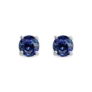 SAPPHIRE STUD EARRINGS IN 14KT SOLID GOLD - SAPPHIRE EARRINGS - EARRINGS