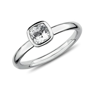 CZ SILVER RING - STERLING SILVER RINGS - RINGS