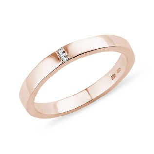 WEDDING RING IN ROSE GOLD - RINGS FOR HER - WEDDING RINGS