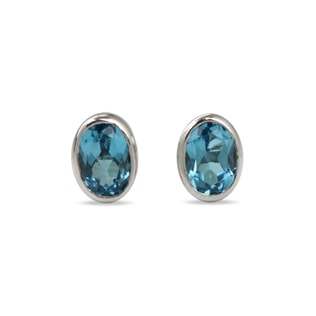 TOPAZ EARRINGS IN 14KT GOLD - WHITE GOLD EARRINGS - EARRINGS