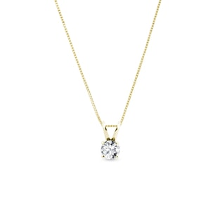 GOLD PENDANT WITH DIAMOND - DIAMOND PENDANTS - PENDANTS