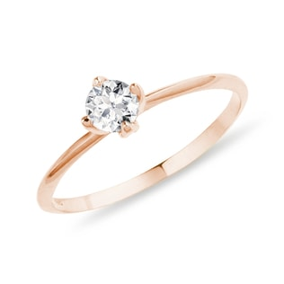 DIAMOND RING IN GOLD - SOLITAIRE ENGAGEMENT RINGS - ENGAGEMENT RINGS