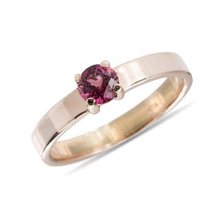 TOURMALINE 14KT ROSE GOLD RING - ENGAGEMENT GEMSTONE RINGS - ENGAGEMENT RINGS