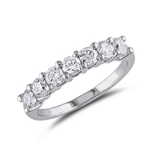 DIAMOND RING IN 14KT WHITE GOLD - RINGS FOR HER - WEDDING RINGS