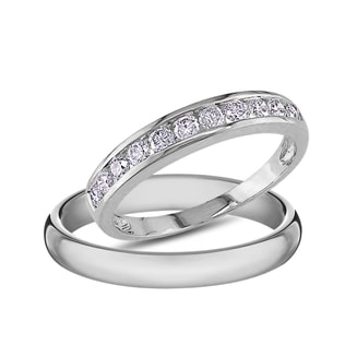 DIAMOND ENGAGEMENT RINGS IN 14KT WHITE GOLD - DIAMOND WEDDING RINGS - WEDDING RINGS