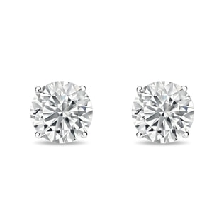 DIAMOND EARRINGS 0.5CT IN 14KT WHITE GOLD - STUD EARRINGS - EARRINGS