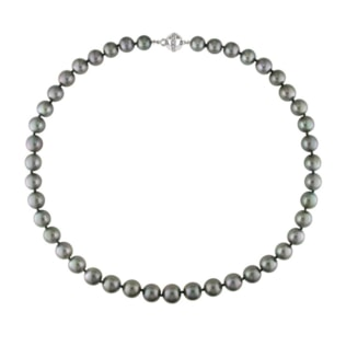 Gray pearl necklace in 14kt gold