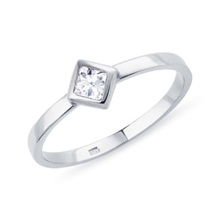DIAMOND 14KT WHITE GOLD RING - DIAMOND RINGS - RINGS