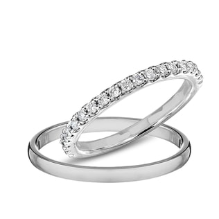 DIAMOND WEDDING RINGS IN WHITE GOLD - DIAMOND WEDDING RINGS - WEDDING RINGS