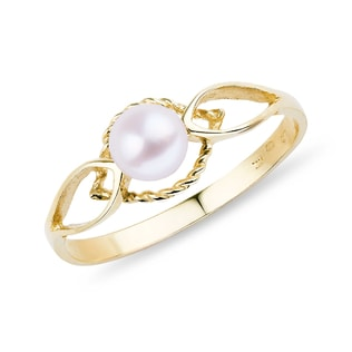 PEARL 14KT GOLD RING - PEARL RINGS - PEARL JEWELLERY