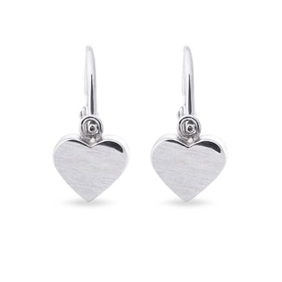 BABY EARRINGS IN 14KT WHITE GOLD - CHILDREN'S EARRINGS - EARRINGS
