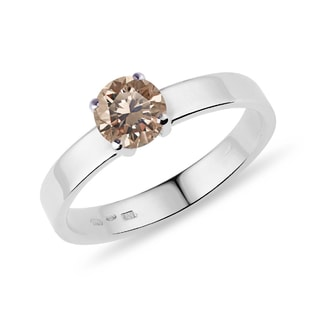 CHAMPAGNE DIAMOND 14KT GOLD RING - DIAMOND RINGS - RINGS
