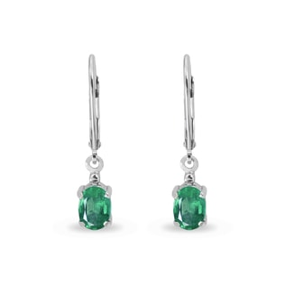 EMERALD EARRINGS IN SILVER - EMERALD EARRINGS - EARRINGS