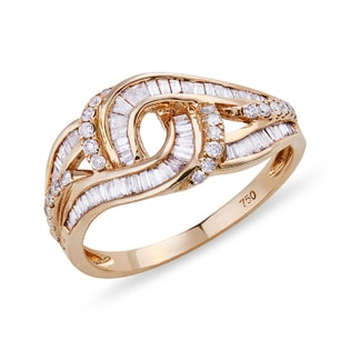 DIAMOND RING IN ROSE GOLD - DIAMOND RINGS - RINGS
