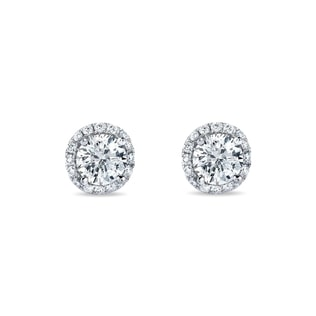DIAMOND EARRINGS IN 14KT GOLD - DIAMOND EARRINGS - EARRINGS