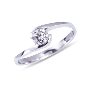 0.3KT DIAMOND ENGAGEMENT RING IN 14KT GOLD - SOLITAIRE ENGAGEMENT RINGS - ENGAGEMENT RINGS