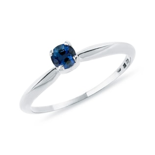 SAPPHIRE RING IN WHITE GOLD - SAPPHIRE RINGS - RINGS