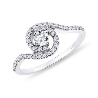 DIAMOND RING IN WHITE GOLD - ENGAGEMENT DIAMOND RINGS - ENGAGEMENT RINGS