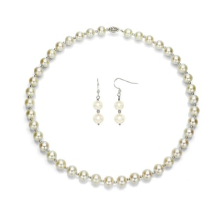 PEARL SET IN STERLING SILVER - PEARL SETS - PEARL JEWELLERY