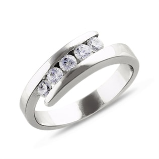 DIAMOND ENGAGEMENT RING IN 18KT GOLD - ENGAGEMENT DIAMOND RINGS - ENGAGEMENT RINGS