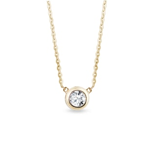DIAMOND NECKLACE IN GOLD - DIAMOND PENDANTS - PENDANTS