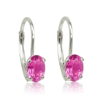 EARRINGS WITH PINK TOPAZ - TOPAZ EARRINGS - EARRINGS