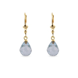 EARRINGS WITH GREEN AMETHYST - AMETHYST EARRINGS - EARRINGS