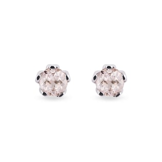 MORGANITE STUDS EARRINGS - GEMSTONES EARRINGS - EARRINGS