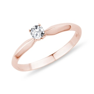 DIAMOND ENGAGEMENT RING IN ROSE GOLD - SOLITAIRE ENGAGEMENT RINGS - ENGAGEMENT RINGS