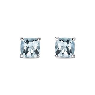 AQUAMARINE 14KT GOLD EARRINGS - AQUAMARINE EARRINGS - EARRINGS
