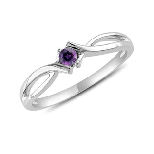AMETHYST 14KT GOLD RING - ENGAGEMENT GEMSTONE RINGS - ENGAGEMENT RINGS