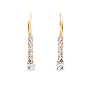 GOLD EARRINGS WITH DIAMONDS - DIAMOND EARRINGS - EARRINGS