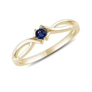 GOLD SAPPHIRE RING - SAPPHIRE RINGS - RINGS