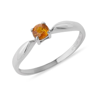 GOLD RING WITH YELLOW SAPPHIRE - SAPPHIRE RINGS - RINGS