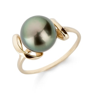 TAHITIAN PEARL RING IN 14KT GOLD - PEARL RINGS - PEARL JEWELLERY