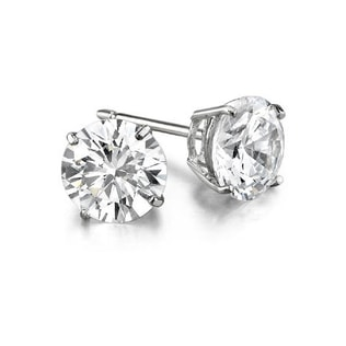 DIAMOND EARRINGS 0.75KT IN 14KT WHITE GOLD - STUD EARRINGS - EARRINGS