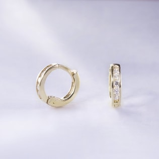 BABY CZ 14KT GOLD EARRINGS - EARRINGS WITH CZ STONES - EARRINGS