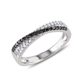 DIAMOND RING IN STERLING SILVER - DIAMOND RINGS - RINGS