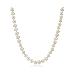 PEARLS NECKLACE WITH GOLD CLASP - PEARL NECKLACES - PEARL JEWELLERY