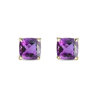 AMETHYST EARRINGS IN 14KT GOLD - AMETHYST EARRINGS - EARRINGS