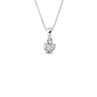 DIAMOND HEART PENDANT - HEART PENDANTS - PENDANTS