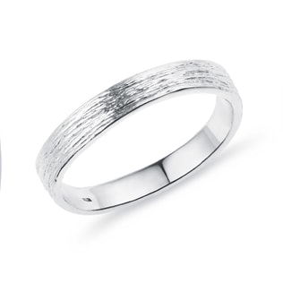 WOMEN'S WEDDING RING MADE OF WHITE GOLD - RINGS FOR HER - WEDDING RINGS