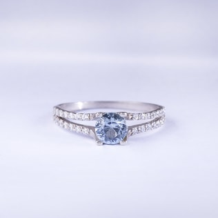 TOPAZ RING WITH CZ STONES - TOPAZ RINGS - RINGS