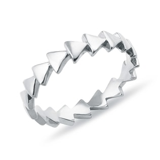 RING IN WHITE GOLD - MINIMALISTIC JEWELRY - FINE JEWELRY